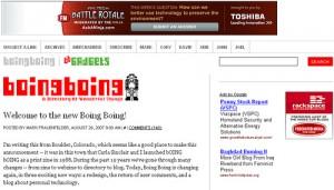 Nuevo diseño de Boing Boing