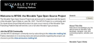 Movable Type Open Source Project
