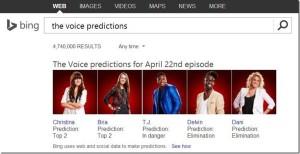 Bing predice los ganadores de los reality shows con sus búsquedas
