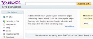 Hoy es el último día de Yahoo Site Explorer