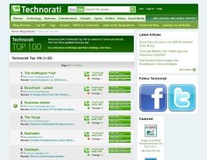 Technorati se despide como herramienta para blogs