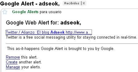 alerta google para adseok