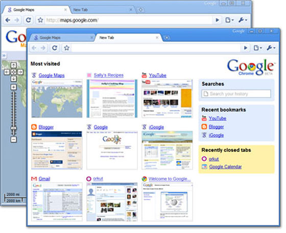 capturas de pantalla google chrome