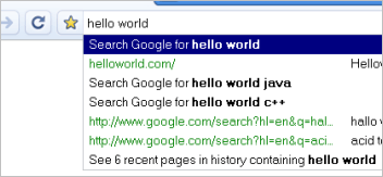 google omnibox