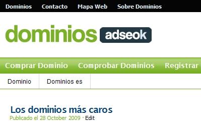 dominios adseok