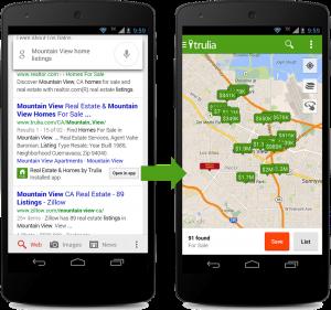 Google empieza a indexar contenido de aplicaciones