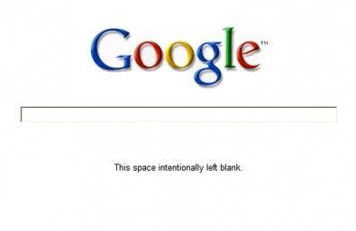 google mensaje blanco