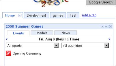 igoogle olimpiadas