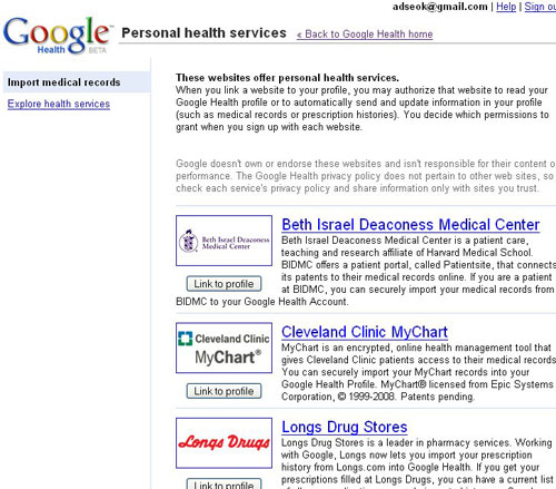 importar historiales médicos de otros servicios