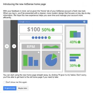 Nuevo diseño de la interfaz de AdSense
