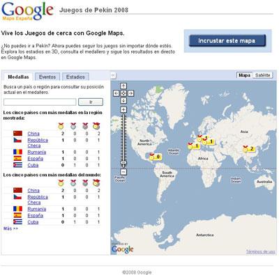 olimpiadas google maps