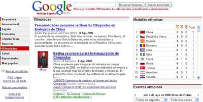 olimpiadas google news