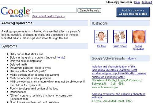 información de salud