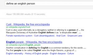 Qué piensa Google de los ingleses