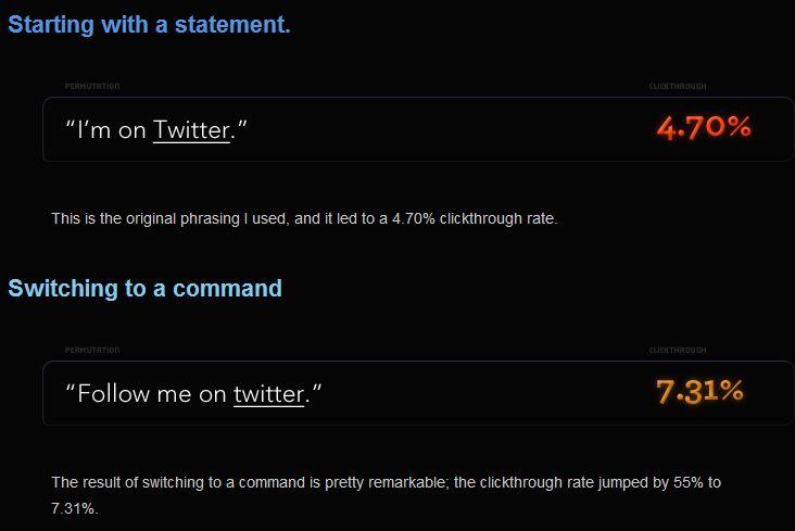 pruebas ab twitter