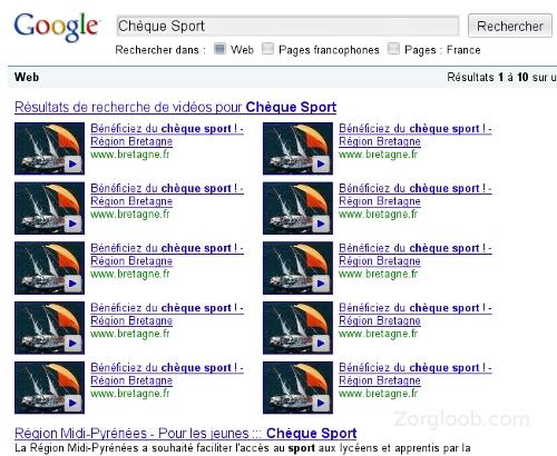 spam google francia