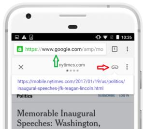 Google no quiere que enlaces a la versión AMP de una página sino a su versión (móvil) original